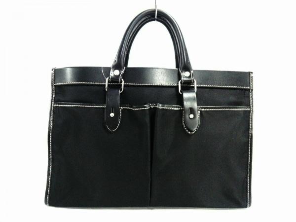 STEFANO MANO(ステファノマーノ) ビジネスバッグ美品  黒 ナイロン×レザー