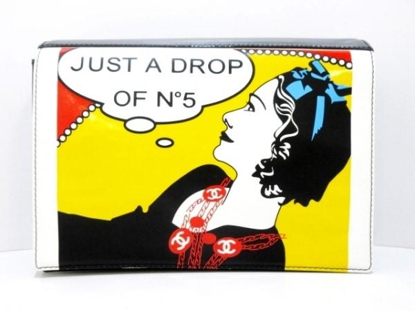 シャネル クラッチバッグ - A17585 黒×イエロー×マルチ Just A Drop Of No. 5