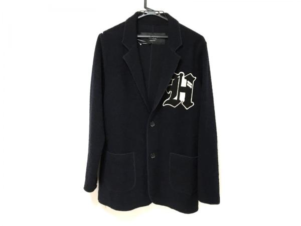HYDROGEN(ハイドロゲン) ジャケット サイズL メンズ ダークネイビー×黒×白