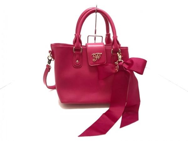 Maison de FLEUR(メゾンドフルール) トートバッグ美品  ピンク 合皮
