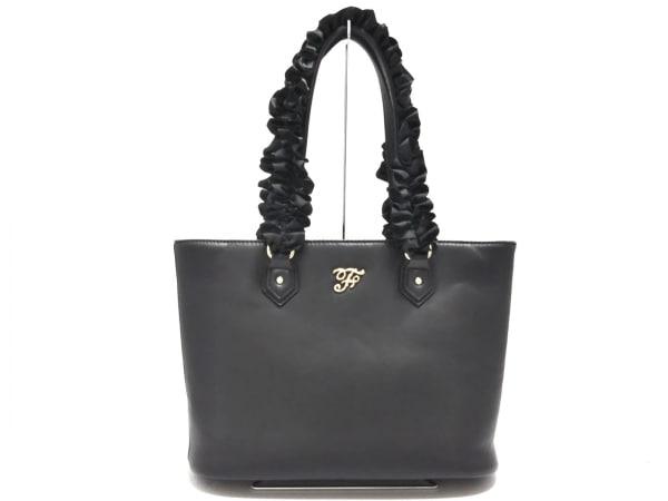 Maison de FLEUR(メゾンドフルール) トートバッグ美品  黒 合皮×化学繊維