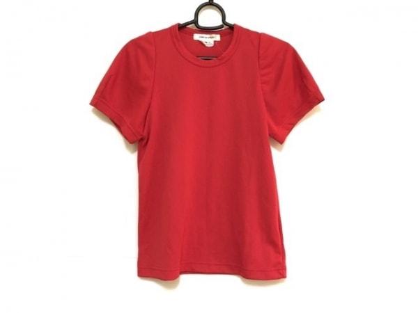 コムデギャルソン 半袖Tシャツ サイズXS レディース美品  レッド AD2017