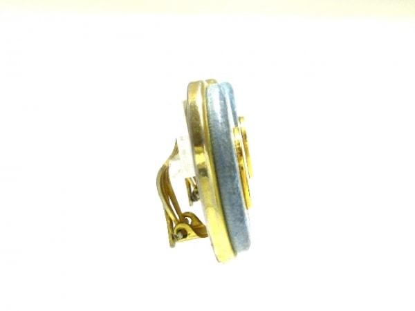 HERMES(エルメス) イヤリング セリエ 金属素材×レザー 2