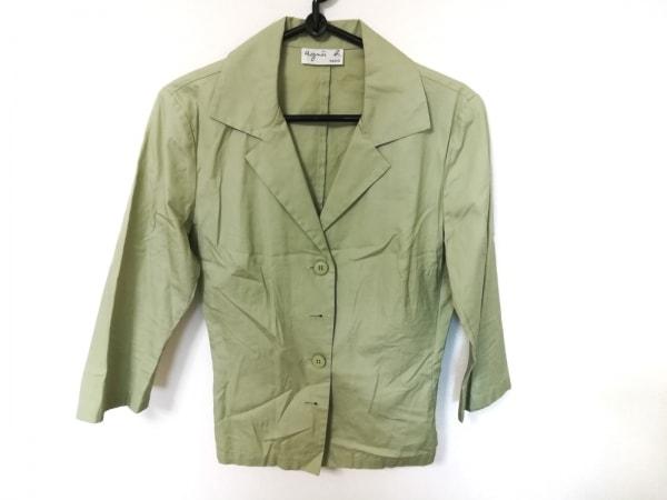 agnes b(アニエスベー) ジャケット サイズ40 M レディース美品  ライトグリーン
