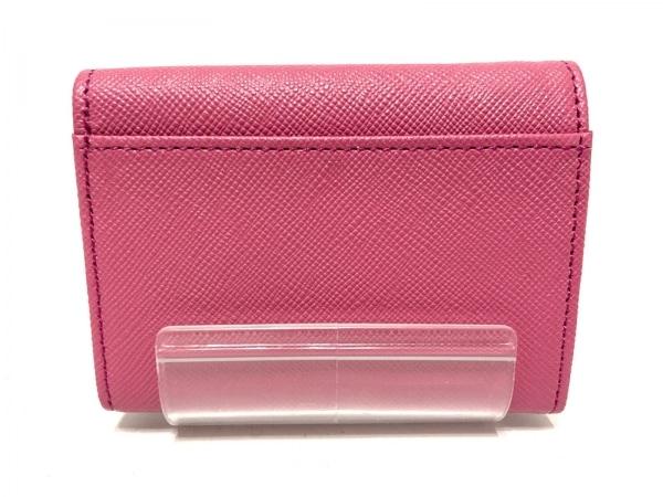LANVIN en Bleu(ランバンオンブルー) 3つ折り財布美品  ピンク レザー
