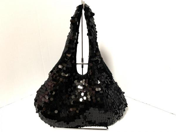 SONIARYKIEL(ソニアリキエル) ハンドバッグ美品  黒 スパンコール×化学繊維