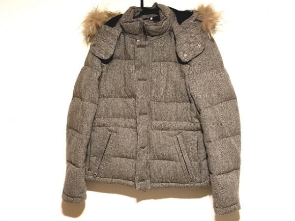 ムッシュニコル ダウンジャケット サイズ46 XL メンズ グレー×ダークグレー