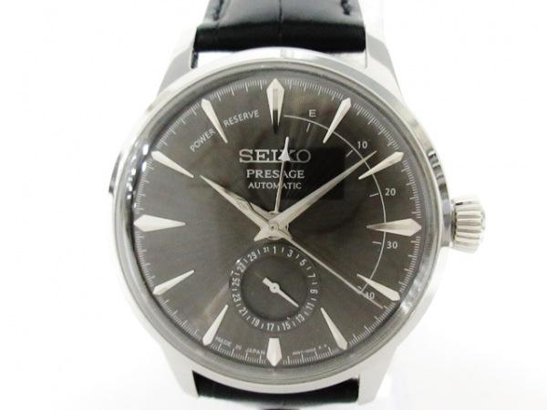 SEIKO(セイコー) 腕時計美品  4R57-00E0 メンズ 革ベルト/裏スケ 黒