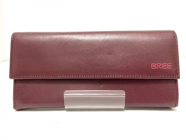 BREE(ブリー) 長財布 ボルドー レザー