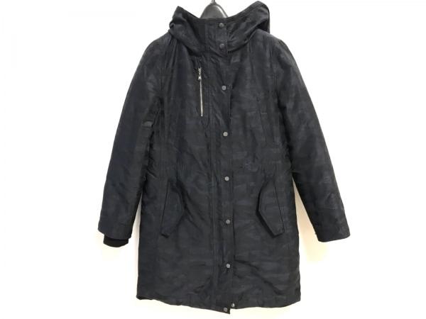 ICB(アイシービー) ダウンコート サイズ9 M レディース美品  黒×ダークネイビー