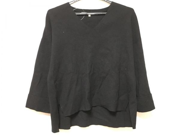 自由区/jiyuku(ジユウク) 七分袖セーター サイズ40 M レディース 黒 ドルマンスリーブ