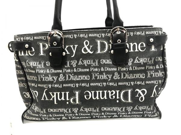 Pinky&Dianne(ピンキー&ダイアン) トートバッグ グレー×黒 ジャガード×レザー