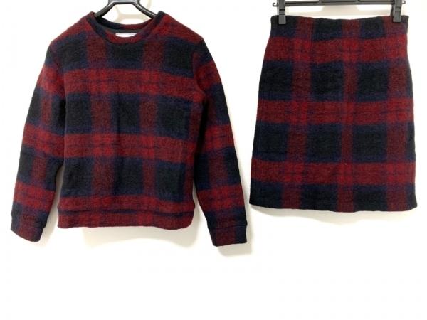 フリークスストア スカートセットアップ レディース美品  黒×レッド チェック柄