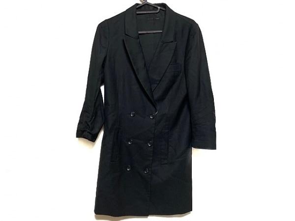 NINE(ナイン) コート サイズF レディース美品  黒 シルク混/春・秋物