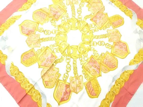 CELINE(セリーヌ) スカーフ美品  ピンク×アイボリー×マルチ