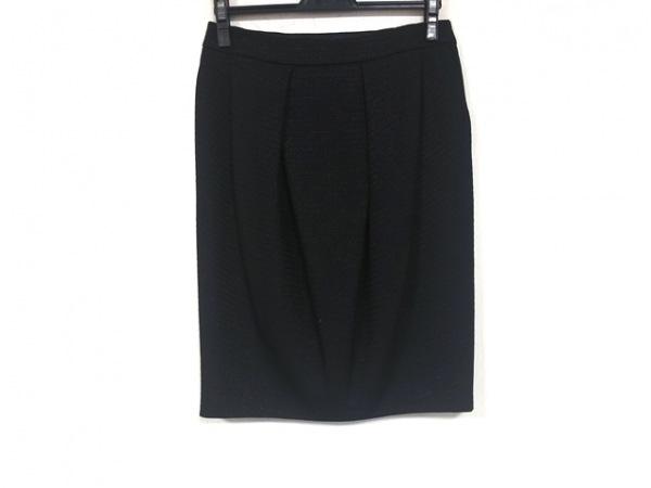 MOSCHINO(モスキーノ) スカート サイズI42 M レディース美品  黒 ラメ