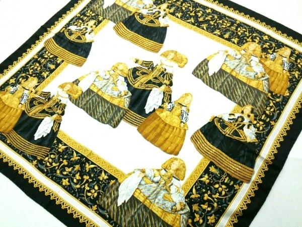 LOEWE(ロエベ) スカーフ美品  黒×イエロー×マルチ