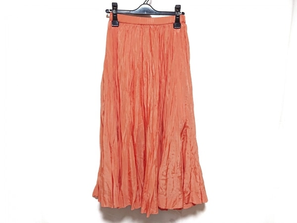 フレイアイディー ロングスカート サイズ1 S レディース美品  オレンジ プリーツ