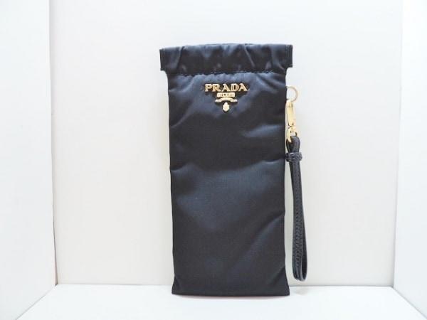 PRADA(プラダ) メガネケース美品  - 黒 ナイロン