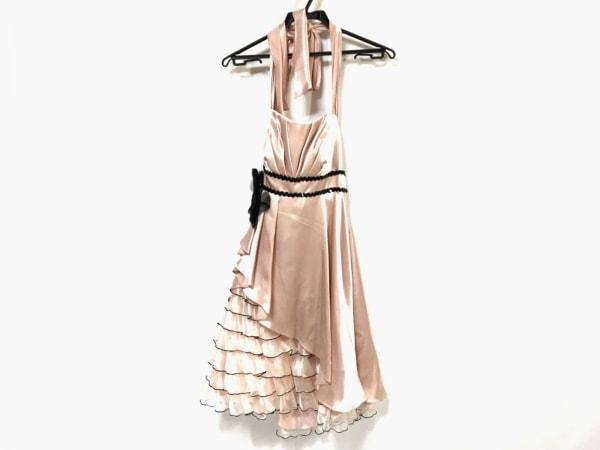 aimer(エメ) ドレス サイズ9 M レディース ピンク×黒 スパンコール/ビジュー
