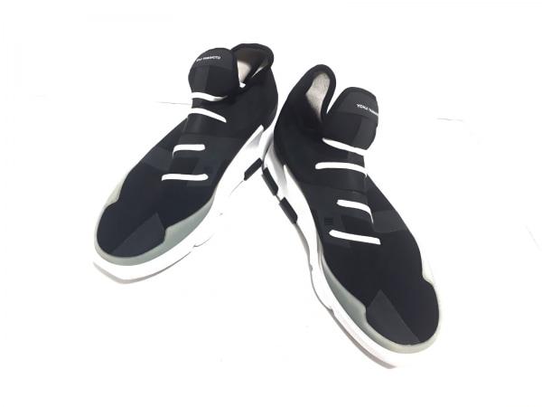 Y-3(ワイスリー) スニーカー 28.5 メンズ 黒 adidas 化学繊維×ラバー