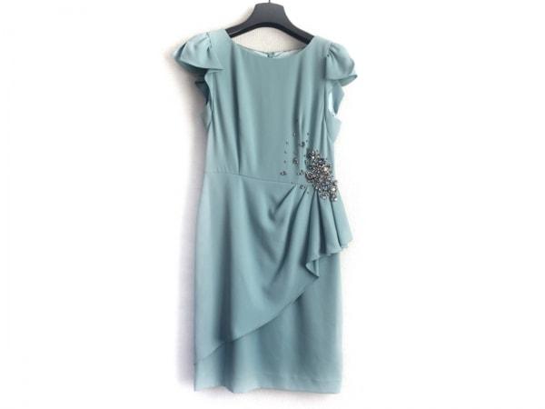 ジャスグリッティー ドレス サイズ1 S レディース美品  ライトブルー ビジュー