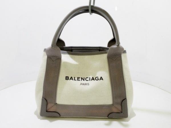 BALENCIAGA(バレンシアガ) トートバッグ ネイビーカバXS 390346 アイボリー×グレー