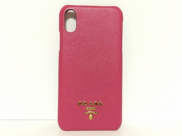 PRADA(プラダ) 携帯電話ケース - 1ZH058 ピンク iphone X レザー