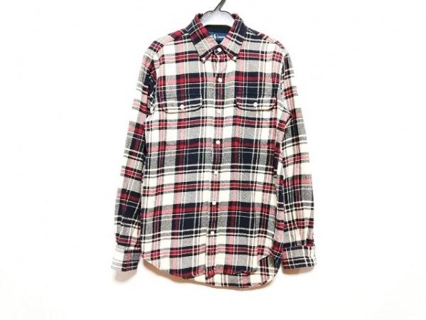 ラルフローレン 長袖シャツ サイズS メンズ レッド×ネイビー×アイボリー チェック柄
