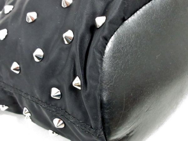 GIVENCHY(ジバンシー) ハンドバッグ ナイチンゲール 黒 スタッズ ナイロン×レザー