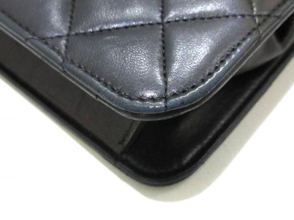 CHANEL(シャネル) ショルダーバッグ ミニマトラッセ 黒 ラムスキン 4