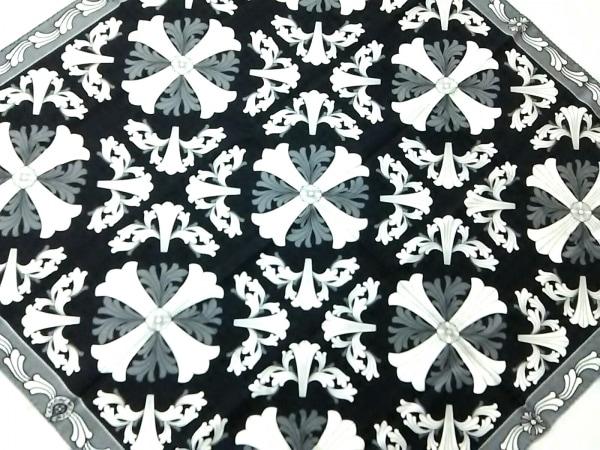 Chrome hearts(クロムハーツ) スカーフ美品  黒×グレー×白