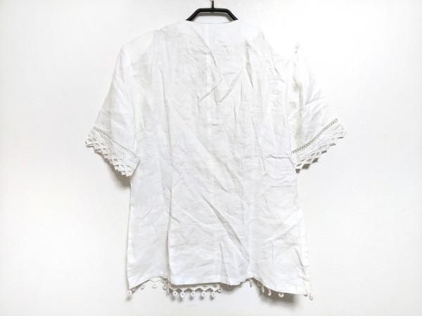 エルミダ ジャケット サイズ12 L レディース 白 肩パッド/夏物 2