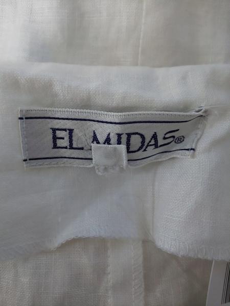 エルミダ ジャケット サイズ12 L レディース 白 肩パッド/夏物 3