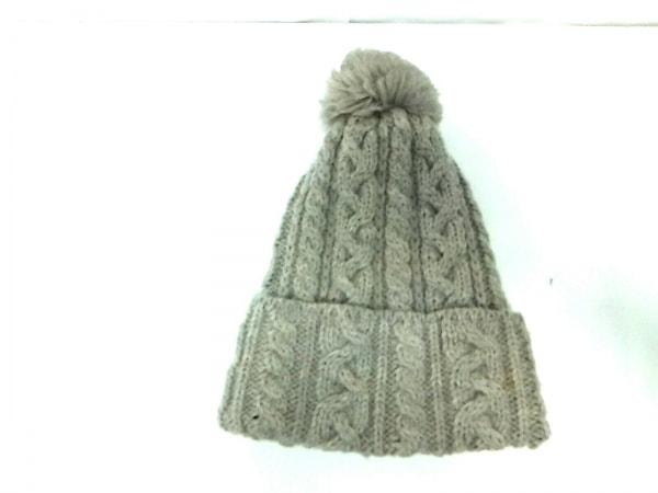 HIGHLAND 2000(ハイランド 2000) ニット帽美品  グレー×アイボリー ウール