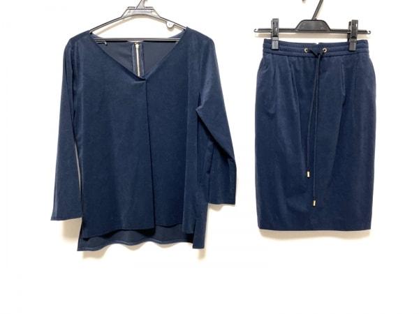 ピンキー&ダイアン スカートセットアップ サイズ38 M レディース美品  ネイビー