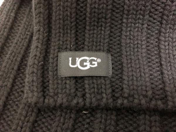UGG(アグ) マフラー 黒 ウール×ナイロン×アクリル