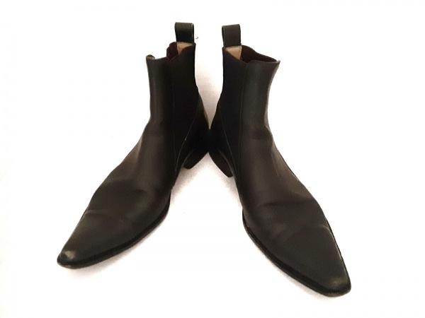ドルチェアンドガッバーナ ショートブーツ 7 1/2 メンズ 黒 サイドゴア