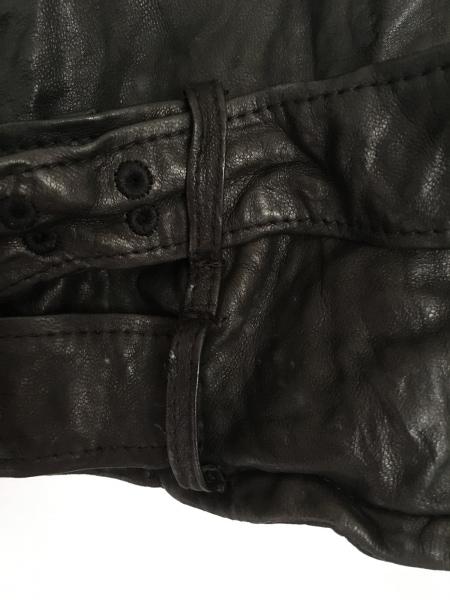 NINE(ナイン) ライダースジャケット サイズF レディース 黒 ジップアップ/冬物