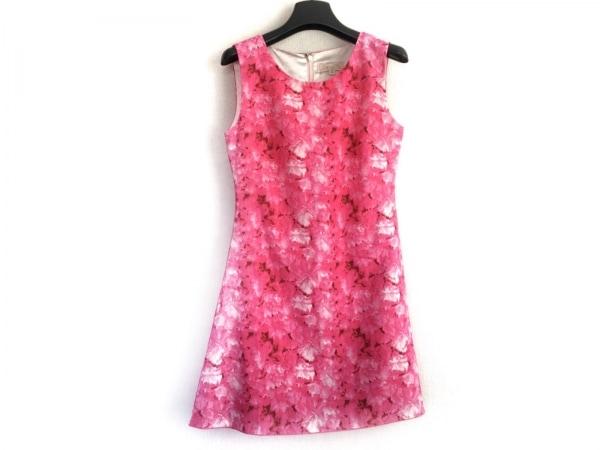 エミリアウィズ ワンピース サイズS レディース美品  ピンク×マルチ フラワー