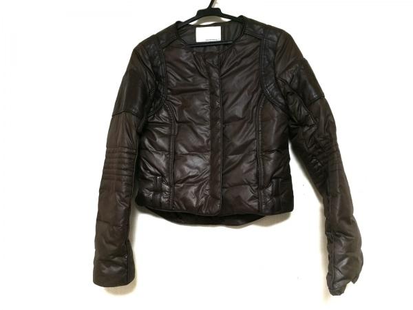 アンシャントマン ダウンジャケット サイズ38 M レディース ダークブラウン 冬物