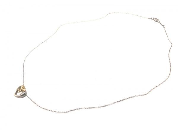 TIFFANY&Co.(ティファニー) ネックレス - シルバー×K18YG ハート/リボン
