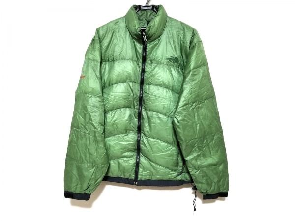 ノースフェイス ダウンジャケット サイズXL メンズ美品  グリーン 春・秋物