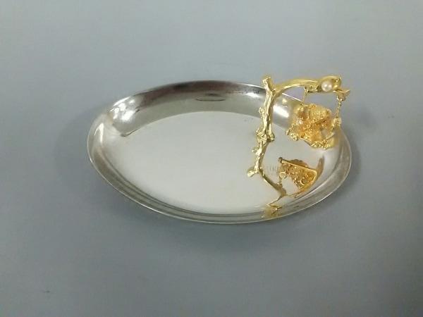 ミキモト 小物美品  シルバー×ゴールド パール/アクセサリートレー 金属素材