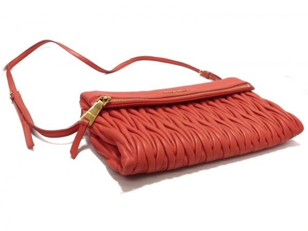ミュウミュウ クラッチバッグ美品  マテラッセ RP0385 ピンク レザー 4