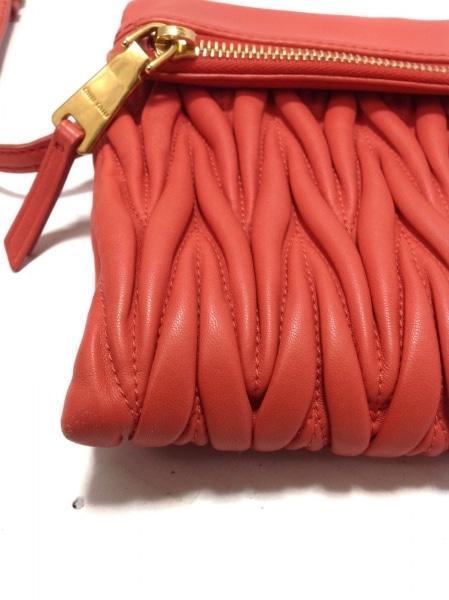 ミュウミュウ クラッチバッグ美品  マテラッセ RP0385 ピンク レザー 5