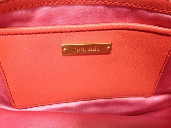 ミュウミュウ クラッチバッグ美品  マテラッセ RP0385 ピンク レザー 7