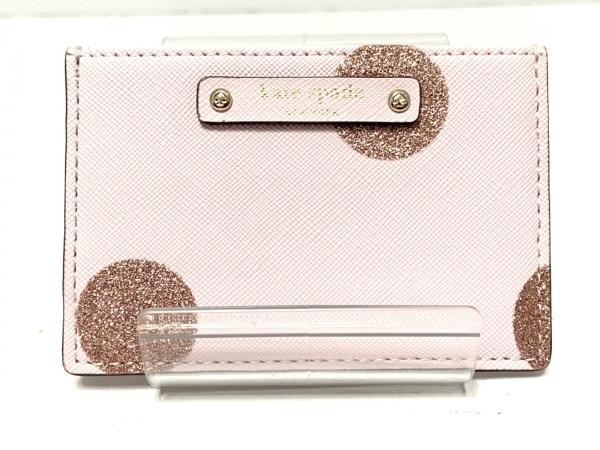 Kate spade(ケイトスペード) カードケース WLRU2692 ピンク ラメ レザー