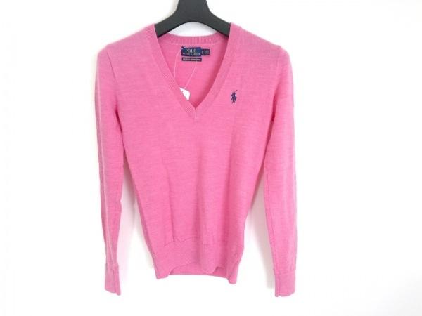 ポロラルフローレン 長袖セーター サイズXS レディース美品  ピンク