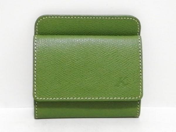 KITAMURA(キタムラ) コインケース新品同様  グリーン カードケース付き レザー